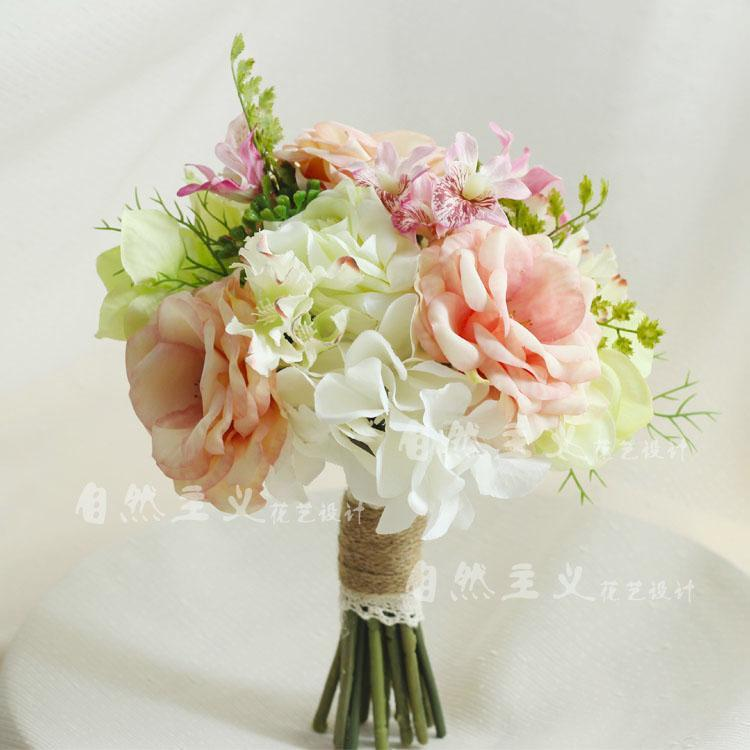 Fresh Flower Bridal Bouquets Online: Pink fresh touch rose ivory ...
