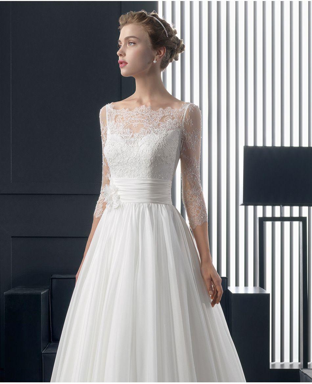 french lace long sleeve bride wedding dress 2017 new fashion slim