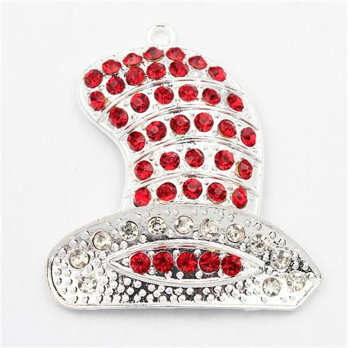 2017 red dr suess hat rhinestone pendant alloy silver for Red hat bling jewelry