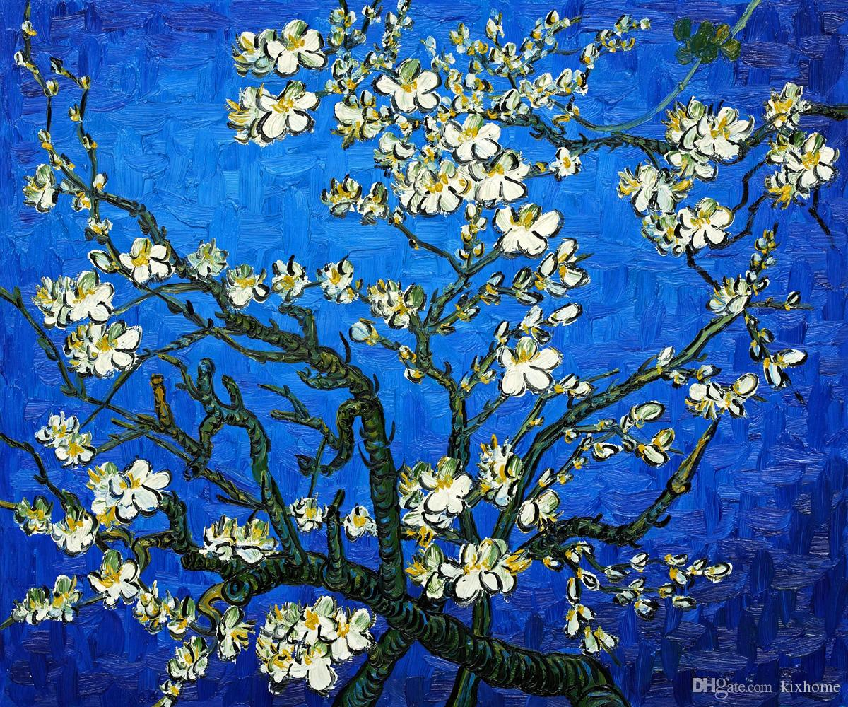 Landscape Painting TreeBranches Of An Almond Tree In