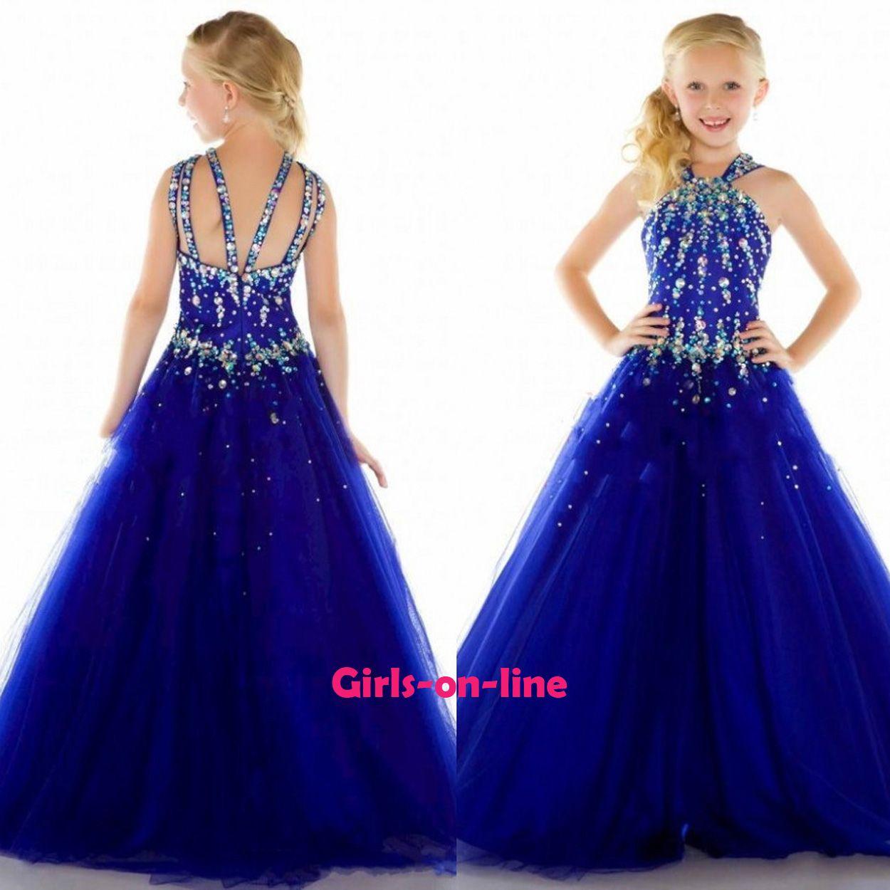 2016 New Nice Kids Wedding Princess Dress Beautiful Beaded Smart ...