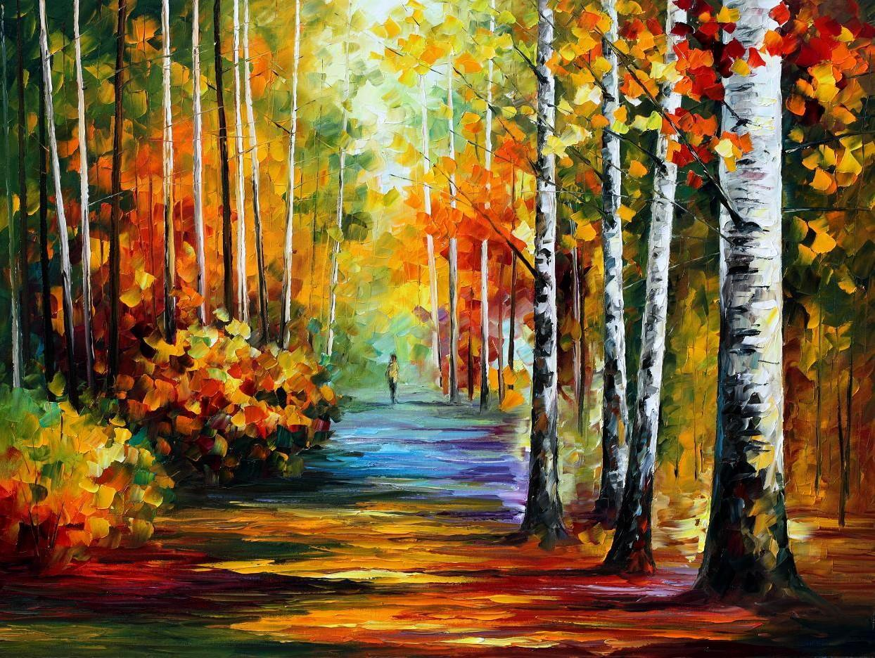 forest road painting by leonid modern arthigh leonid afremov paintings online with 18798piece on store