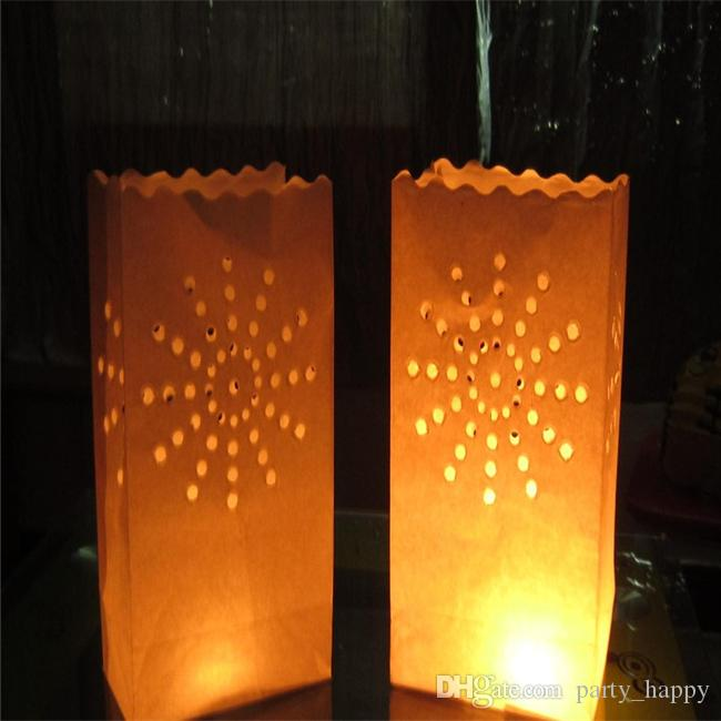 Candle holder paper candle bag new wedding table for Cardboard candle holders