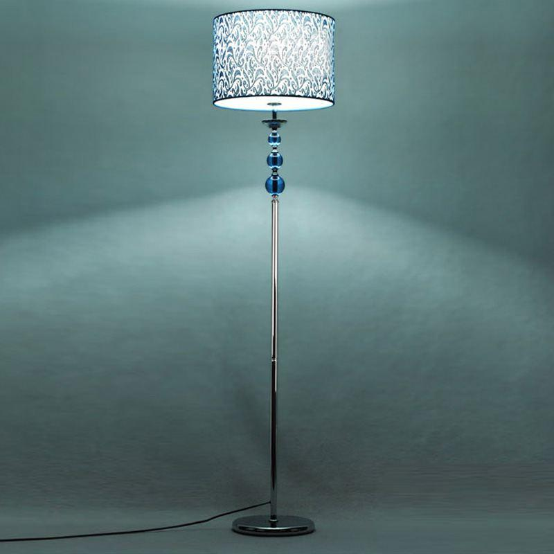 blue crystal fabric living room floor lamps european simple study room floor lamp bedroom floor lights fixtures cheap floor lighting
