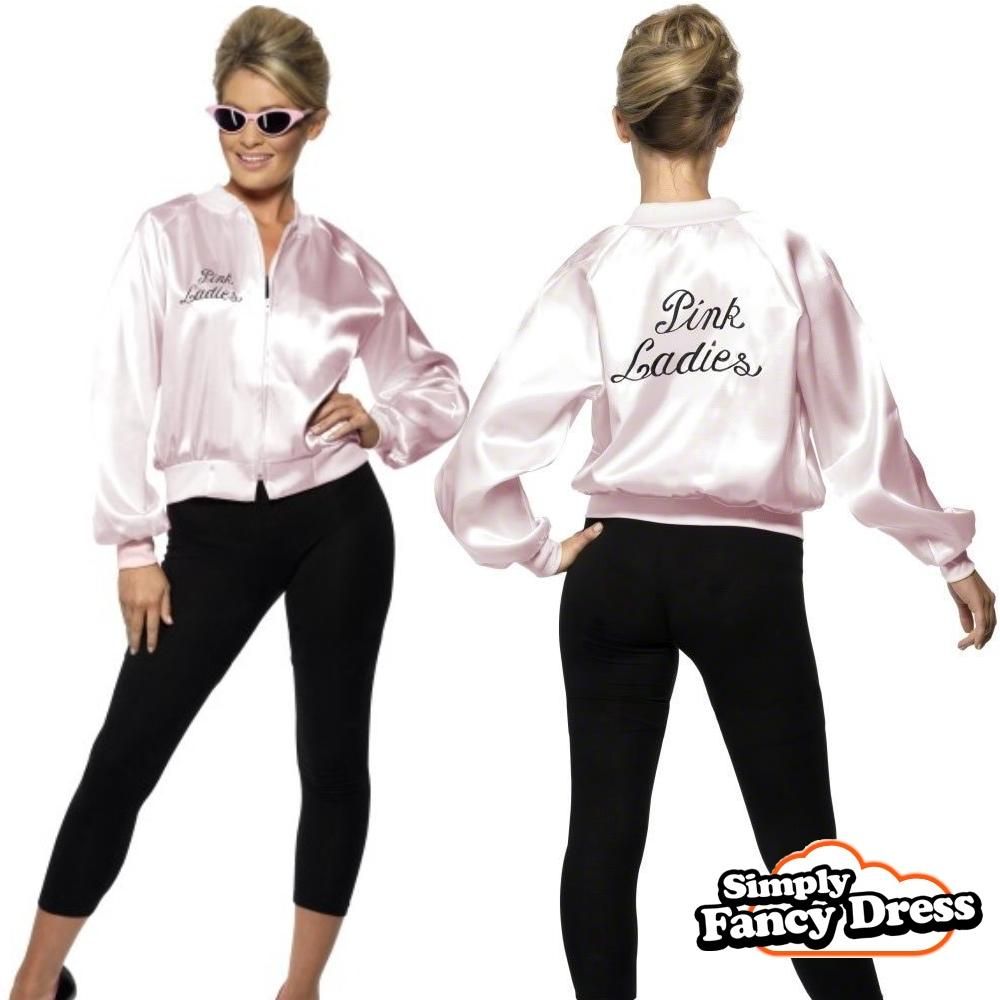 50's Grease Pink Lady Jackets Retro Style Cute Stain Pink Ladies ...