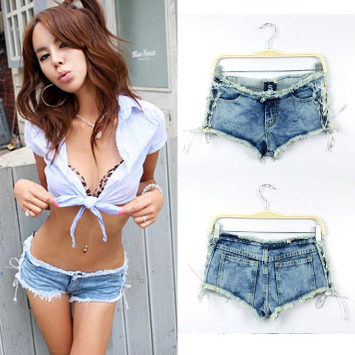 SSY Sexy, Tease , Babes the Side Straps Jeans Hipster Shorts ...