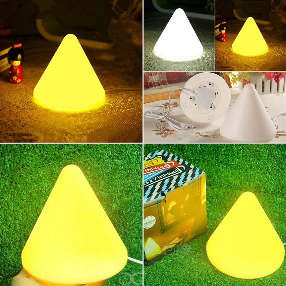 Wired Pyramid Shape Bedroom Led