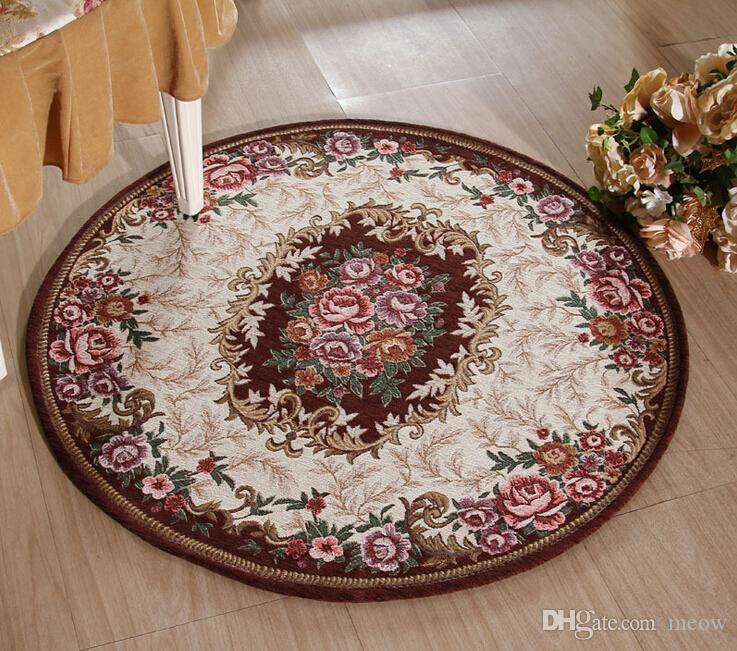 Round Carpets Mats Rugs Kitchen Living Room Bedroom Table Anti Slip Machine Wash Safe Acrylic Airbnb Style Carpet Online With