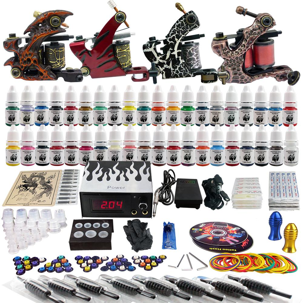 Solong tattoo body art complete tattoo kit 4 pro machine for Cheap tattoo kits amazon