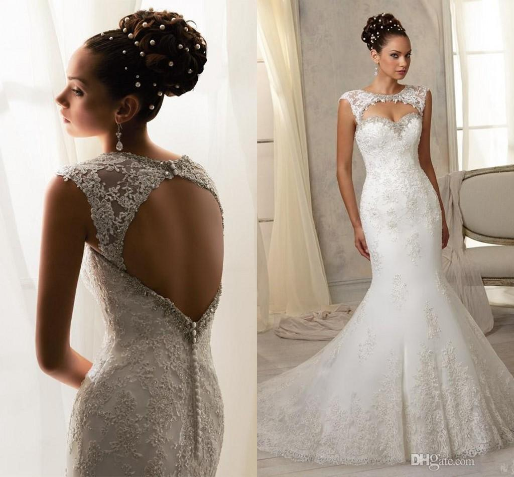 Luxury Lace Mermaid Wedding Dresses With Detachable Jacket