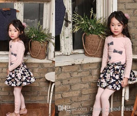 Оптом - 2015 году Весна для детей девочек хлопок кружева цветок девочки детская одежда девушки длинные брюки детская мода колготки детские брюки мальчиков