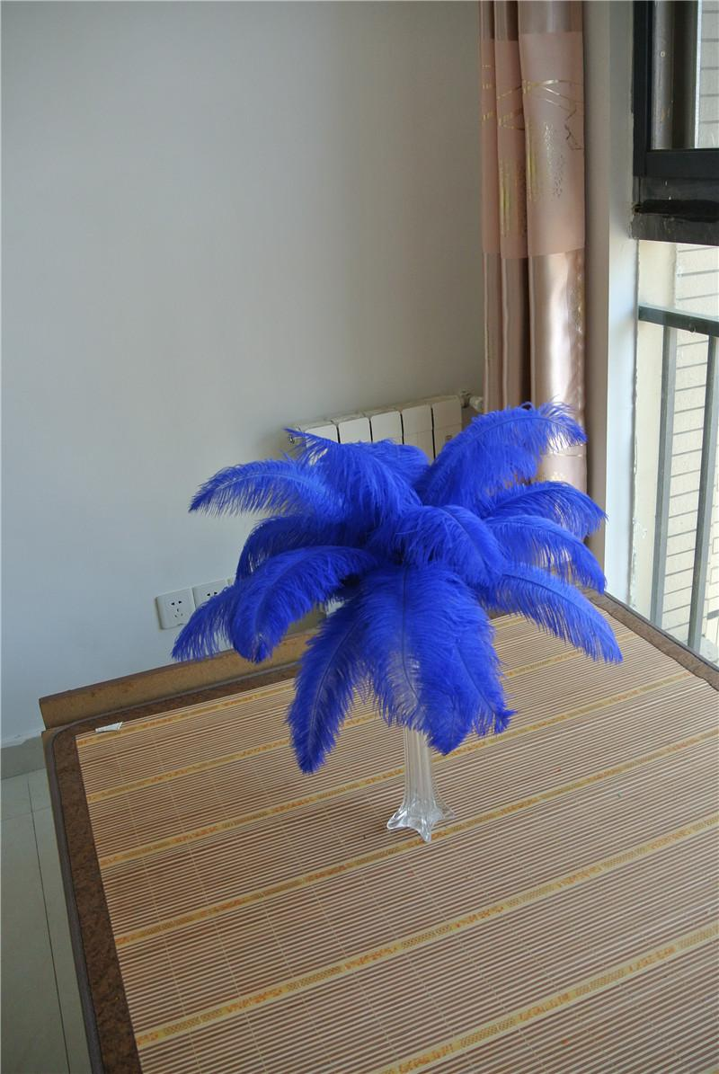 Wholesale inch royal blue ostrich feather plumes for