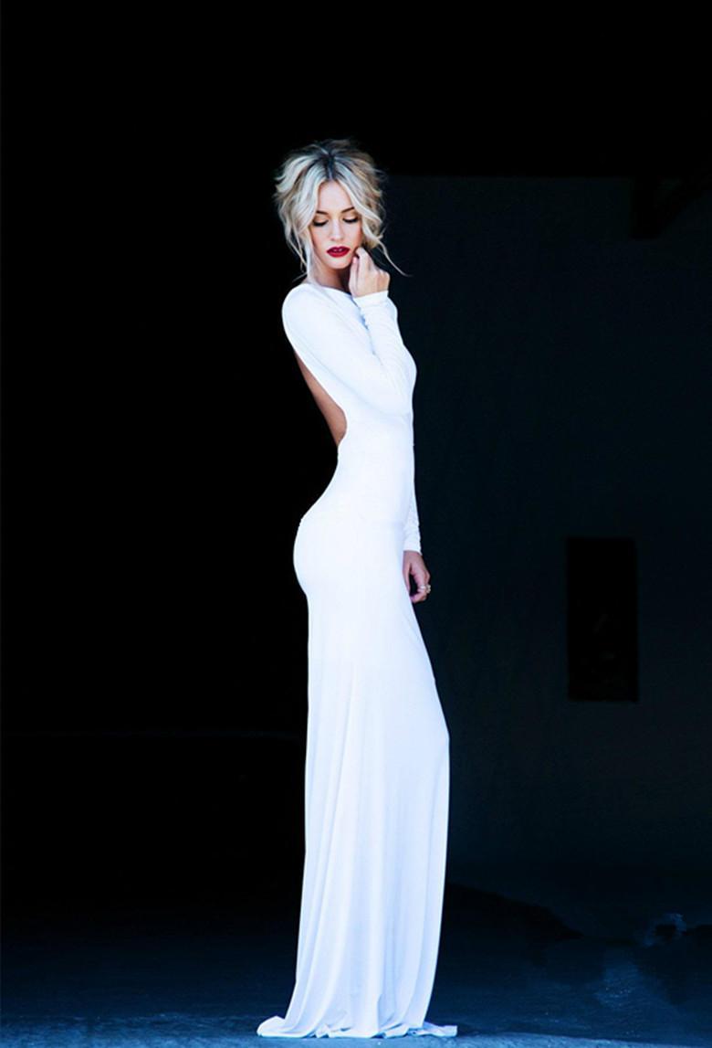 Winter White Long Formal Dresses