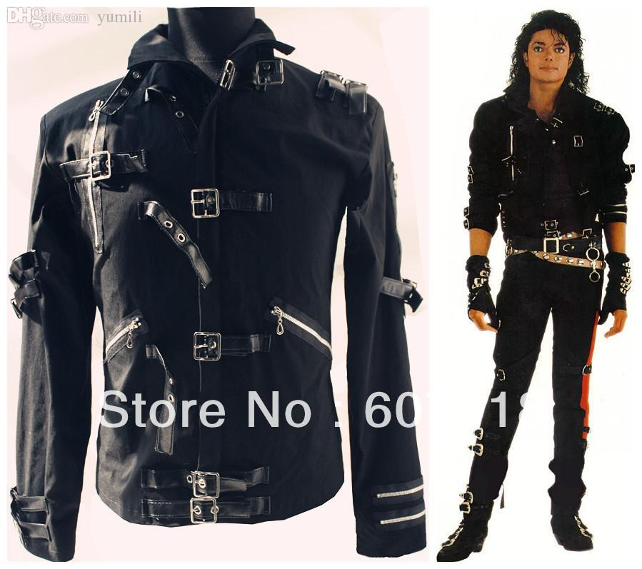 Fall Hot Mj Michael Jackson Men'S Jacket Punk Bad Black Jacket ...
