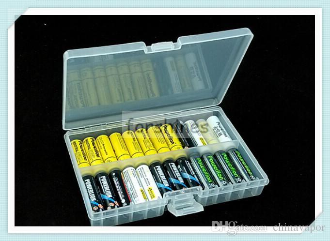 AA Batteries Storage Container,Hard Plastic Case Holder Storage Box For AA  AAA Rechargeable Battery High Quality,Large Capacity 48pcs AA Battery  Storage Box ...