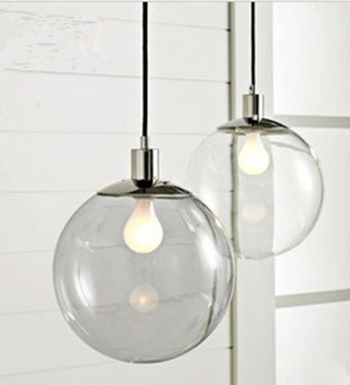 fashion lamp scandinavian minimalist glass ball pendant light