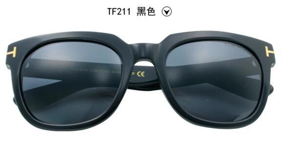 designer black sunglasses  Fashion Designer Tf211 Sunglasses For Men And Women Sunglass Cool ...