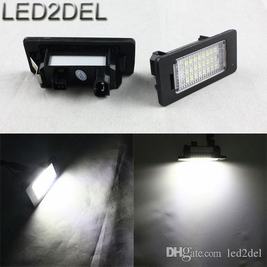 No Error Code LED License Plate Lights 24 SMD LED Number Plate
