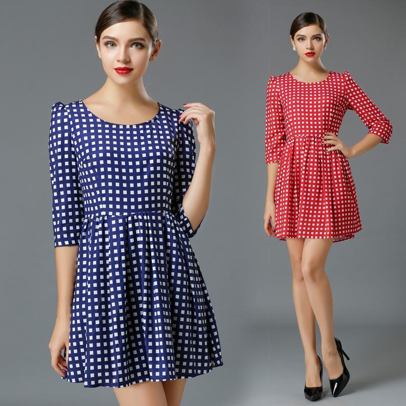 Brazil 2014 Printed A-Line Women's Dresses Plus Size Women Clothing