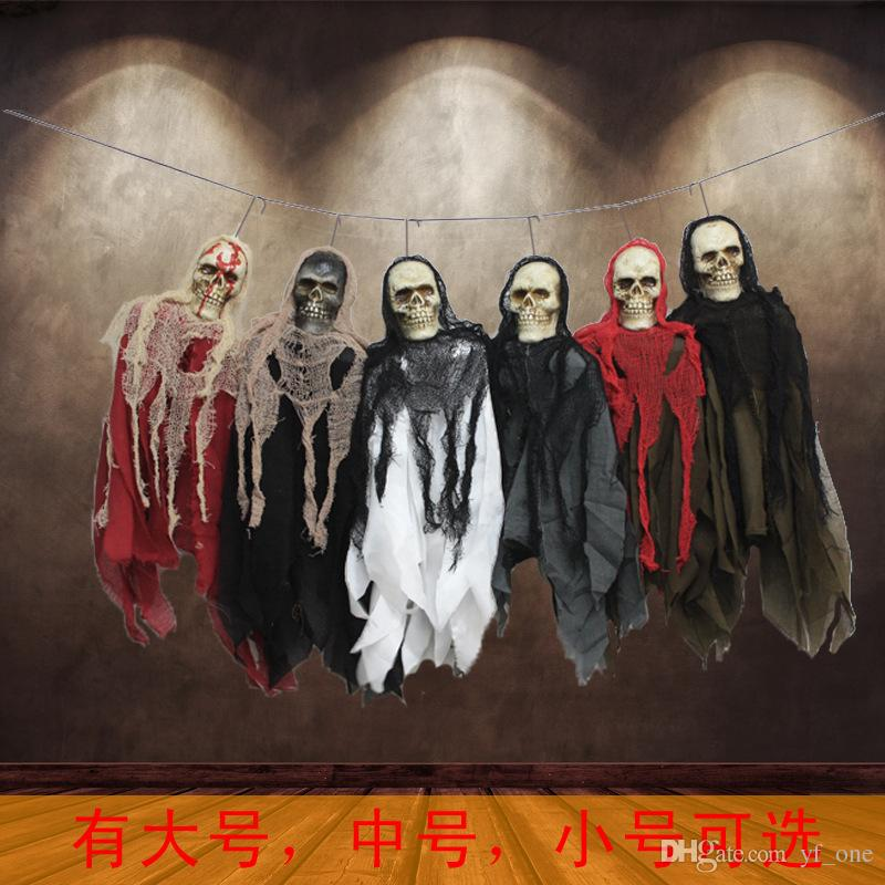 2017 100cm halloween decorations hanging ghost party for B m halloween decorations