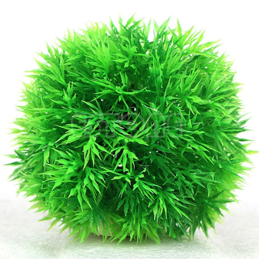2018 Artificial Aquatic Plastic Plants Aquarium Grass Ball Fish Tank Ornament Decor From