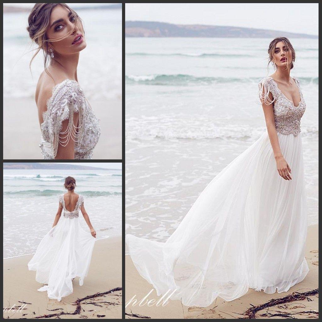 2016 Beach Wedding Dresses Anna Campbell Bridal Gowns