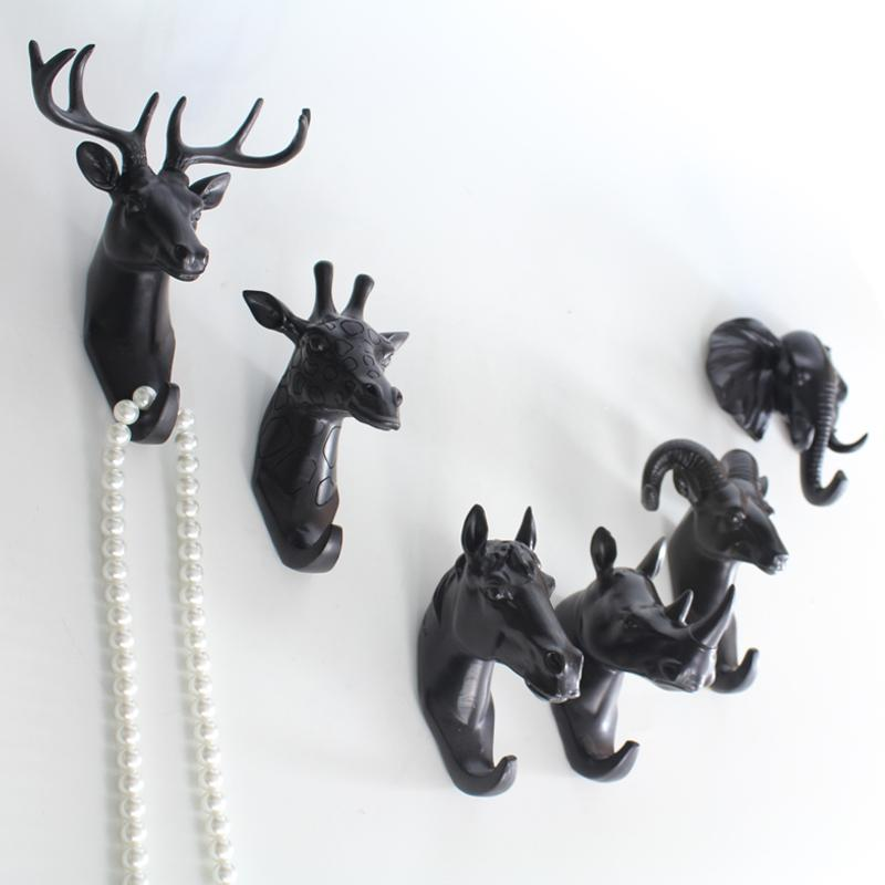 Wall Hanging Hooks europe style hanger decor wall home kitchen bathroom animal head