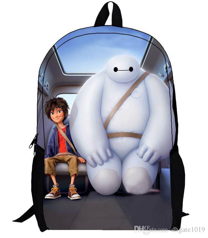 Baymax School Bag Big Hero 6 Mochila Backpack Cartoon Chlidren's ...