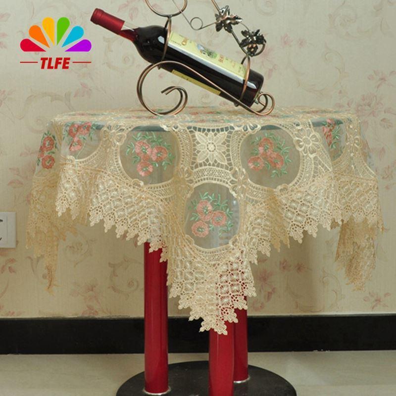 TLFE Europe Organza Lace Crochet Embroidery Wedding Tablecloth Table Cloth  Rectangular Square Home Textile Toalha De Mesa ZB186 Tablecloth Shapes  Tablecloth ...