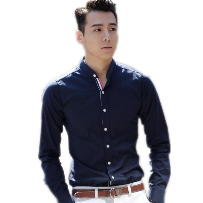 Discount Navy Blue Dress Shirt Men  2017 Navy Blue Dress Shirt ...
