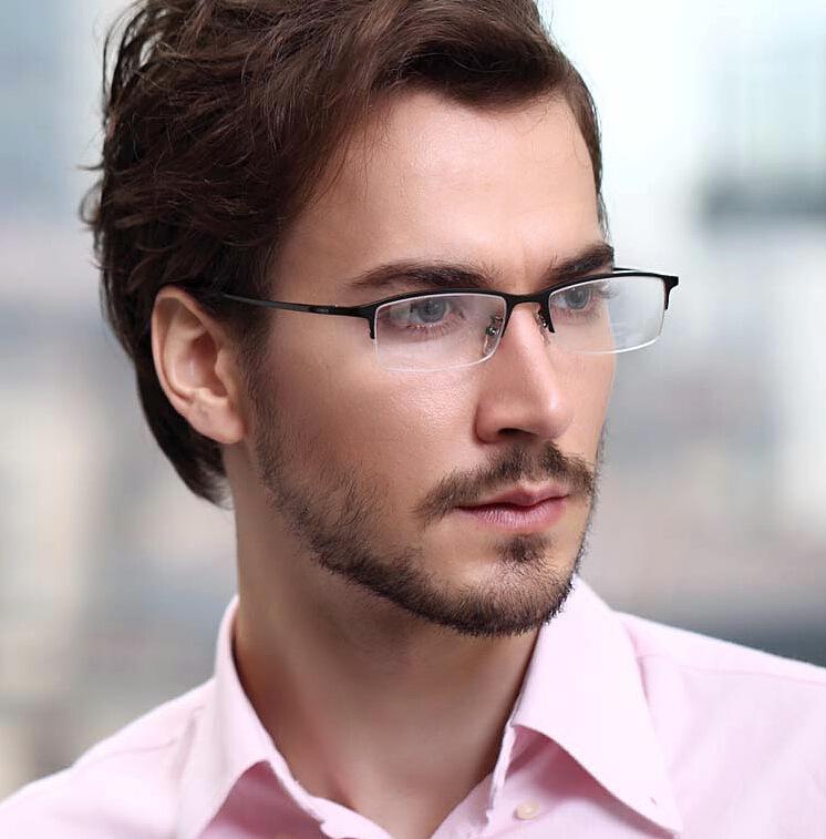 Mens Half Frame Glasses : 8906 Half Frame Glasses Frame Glasses Men Ultralight ...