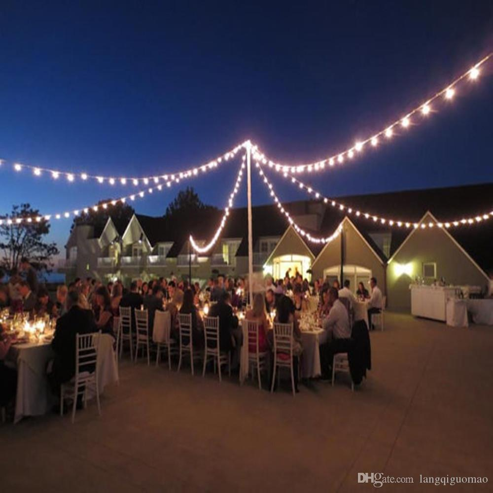 Best 20 Outdoor Patio String Lights Ideas On Pinterest. 2017 220v 240v  100ft 30 5m G40 E14 Industrial Lamp Globe Lights