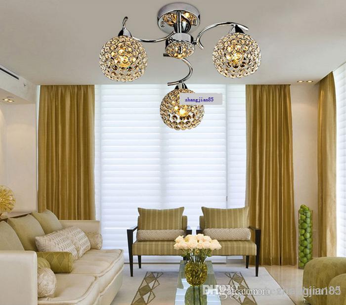 Semplice e moderno, k9 cristallo plafoniera piccola lampadario per ...