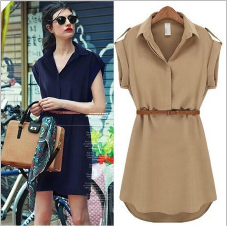 casual brown dress