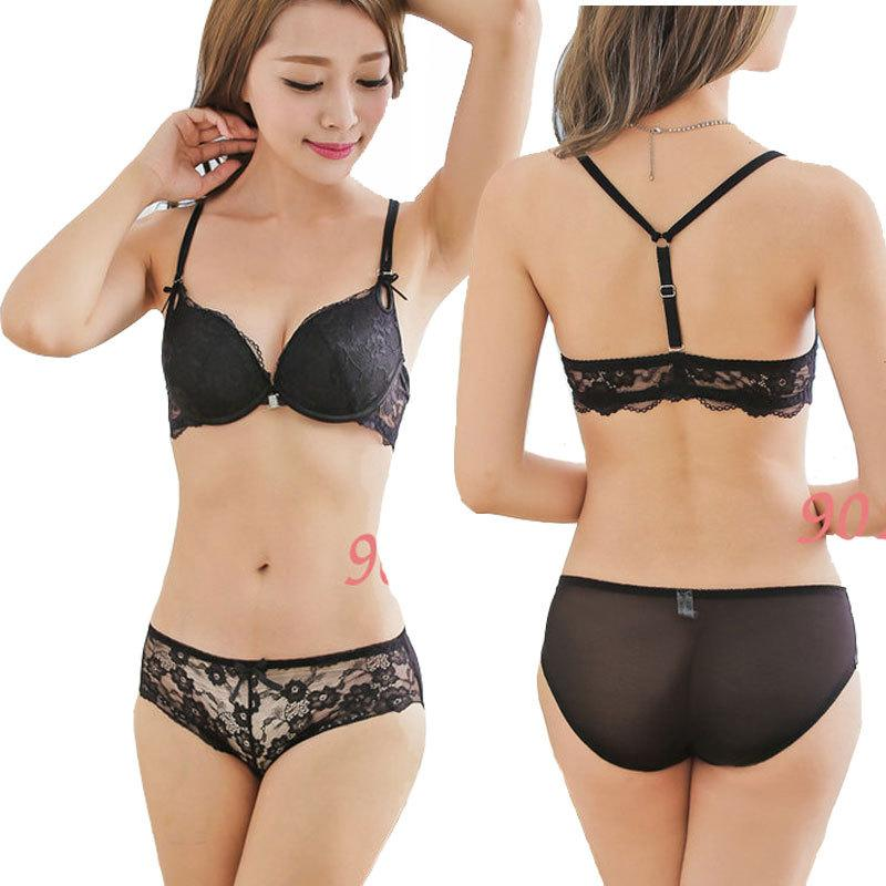 Cheap Sale Underwear Women Bra Panty Set Y-strap B Cup Sexy ...