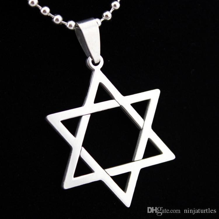 Wholesale fashion jewelry stainless steel magen david star for Star of david jewelry wholesale