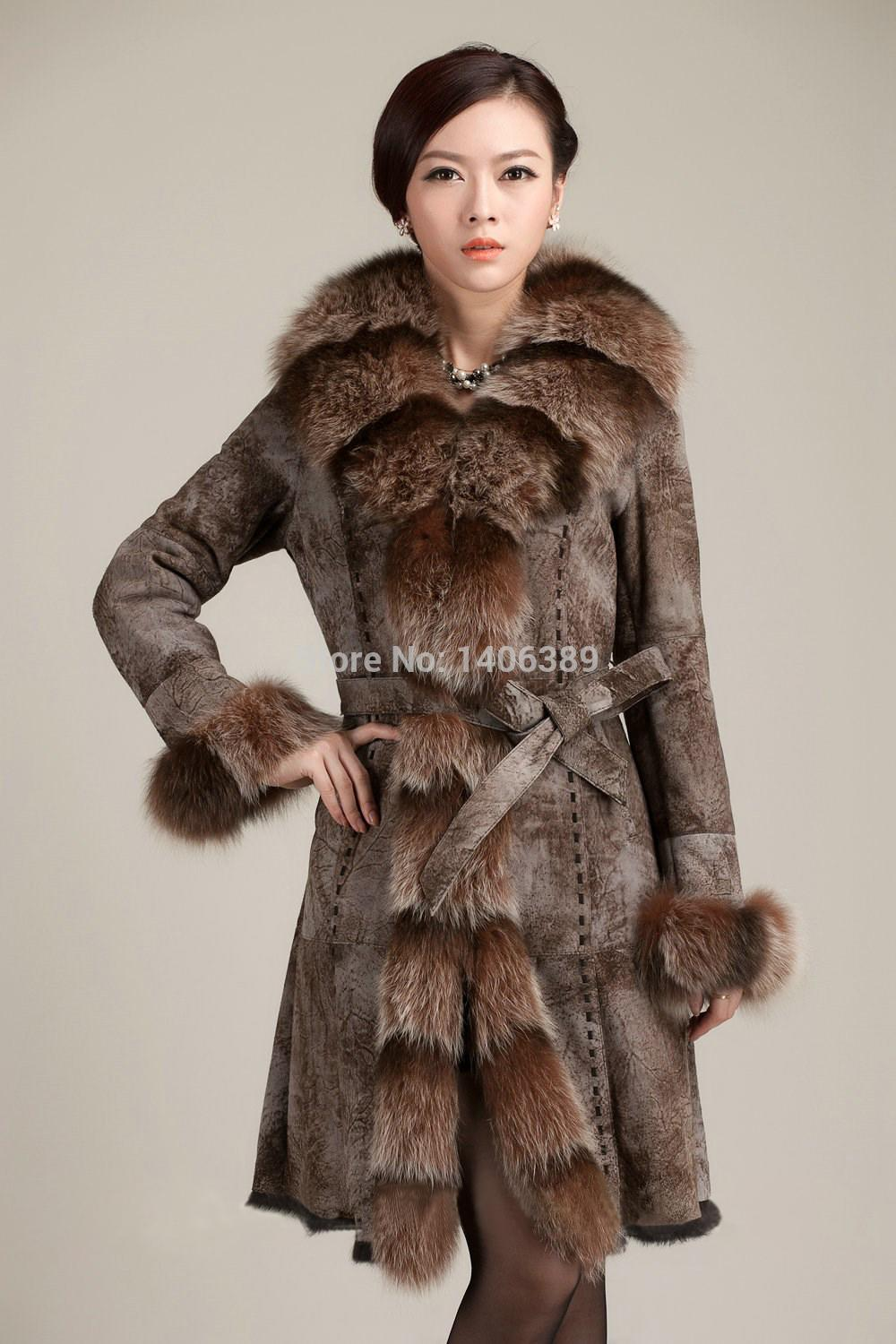 Dl6077 Luxury 100% Real Fur Jacket Genuine Rabbit Leather Coats Women Winter Double Faced Fur Coats X Long Coats From Fashonlether, $743.74   Dhgate.Com