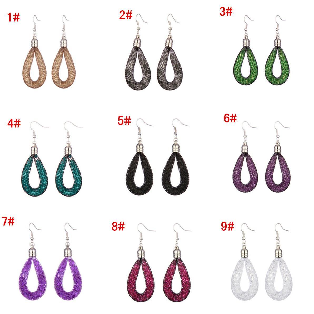 2017 new style earrings stardust water drop earring