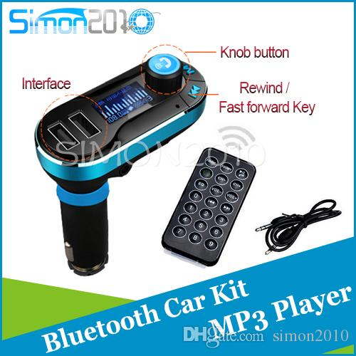 Wireless T66 Lecteur MP3 Kit version bluetooth voiture Transmetteur FM Avec Auto