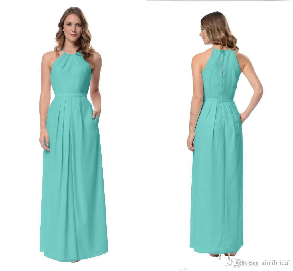 2017 turquoise bridesmaids dresses custom made floor length modest 2017 turquoise bridesmaids dresses custom made floor length modest junior bridesmaid dresses simple a line halter zipper back floor length 2017 bridesmaid ombrellifo Choice Image