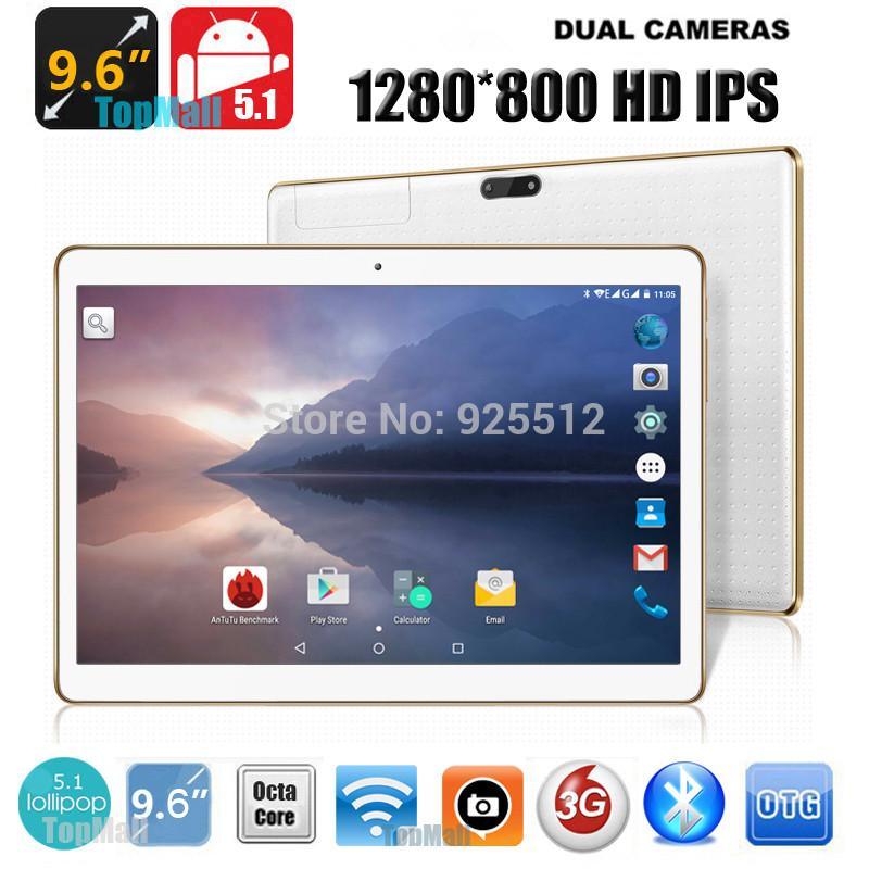 Appel de 10 pouces Tablet PC 3G 4G appel Eight Core Android 5.1 disque dur 32 Go