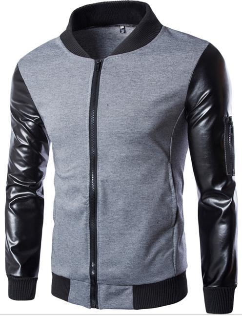 Men'S Clothing Coats & Jackets Patchwork Unique Pocket Arm Fight ...