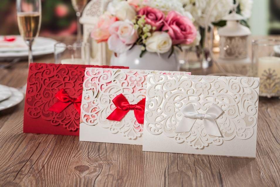2015 New Wedding Invitations Cards DYI Custom Made Laser Cut – Cheap Invitations Cards