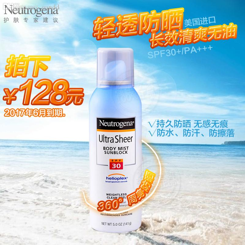 Best Wholesale Neutrogena Light Refreshing Oil Free Sunscreen Spray 141gspf30 Long Term Uv Only The Body Of Men And Women Under $102.37 | Dhgate.Com