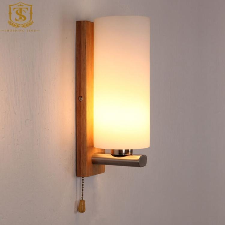 modern style wall mounted light led wall lamp simple design wooden sconce light for study bedroom pw002 - Wall Lamps Design