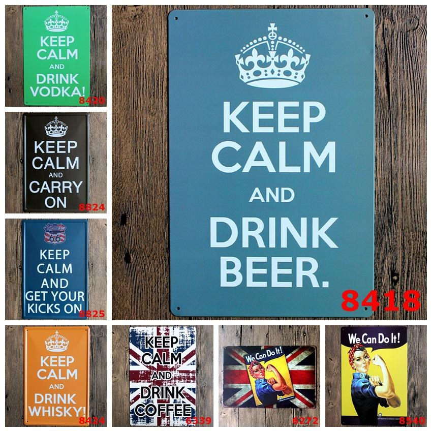 Metal Wall Signs metal wall we can do it! keep calm and drink whisky in signs home