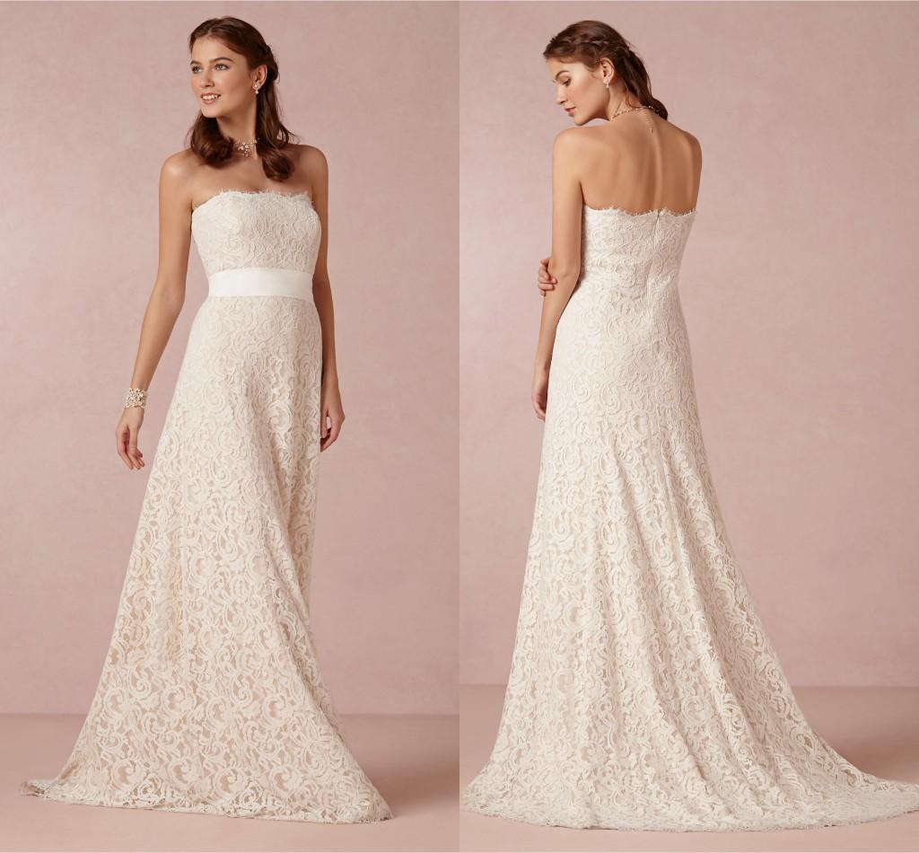 Discount 2014 New Simple Design Lace Applique Wedding