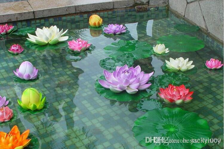 Fake Lotus Artificial Flower Fish Tank Garden Water Pool