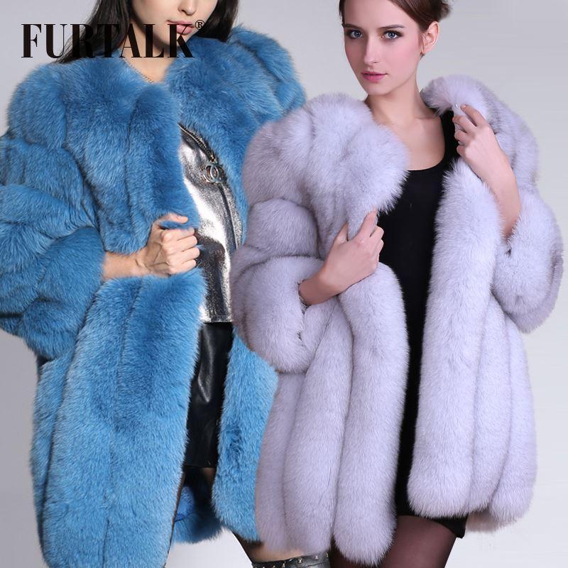 Fur Talk Luxury Russian Fur Coats Women Natural Winter Fox Fur ...