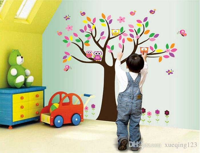 product new arrived butterfly owl wall sticker for